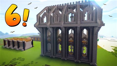 6 epic wall designs ideas for castles towns minecraft
