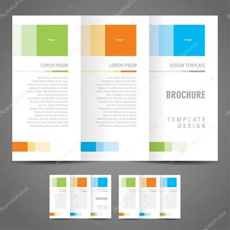 Simple Brochure Design by Simple Brochure Design Template Trifold Stock Vector