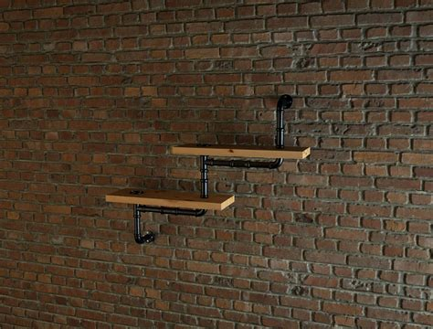 industrial style pipe shelves   model max cgtradercom