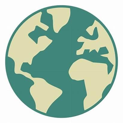 Earth Globe Flat Icon Transparent Svg Vector