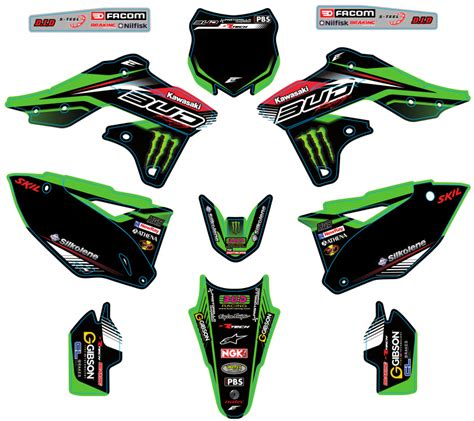 kit deco bud racing pin kit deco complet rockstar bud racing kawasaki kxf pictures on