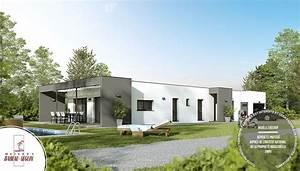 Maison Architecte Plain Pied : linea maison moderne plain pied ~ Melissatoandfro.com Idées de Décoration