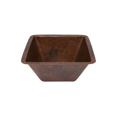 Undermount Bar Sink Rubbed Bronze by Premier Copper Products 15 Quot X 15 Quot Square Undermount