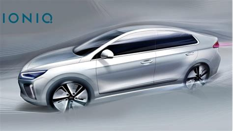 More 2017 Hyundai Ioniq Sketches Before Hybrid, Electric