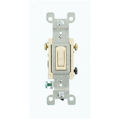 3 switch light switch leviton 15 3 way toggle switch light almond r56 01453
