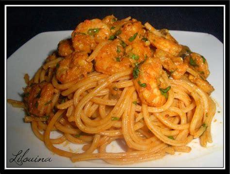 cuisiner gambas spaghetti aux crevettes fait maison par lilouina
