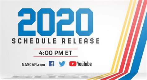 nascar digital unveil cup schedule show nascarcom