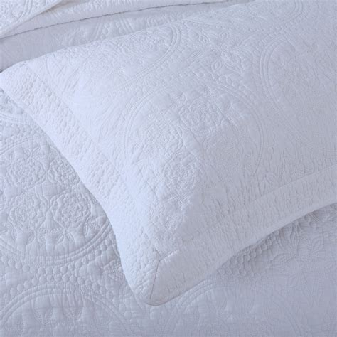 matelasse quilt supplier  cotton white embroidery