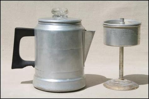 I highly recommend using cubed ice from the grocery store or ice cubes formed from filtered water. Old Fashioned Stovetop Coffee Percolator