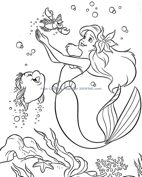 There's only one day of the year you'll see that: Little mermaid coloring pages to download and print for free