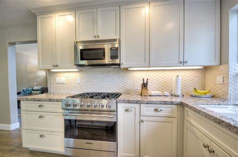 brick shaped kitchen tiles cottage kitchen with flush light carrara white 3d 4890