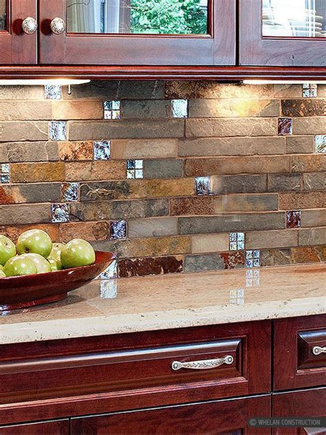Slate Kitchen Backsplash by Ba1026 Slate Glass Kitchen Slate Backsplash