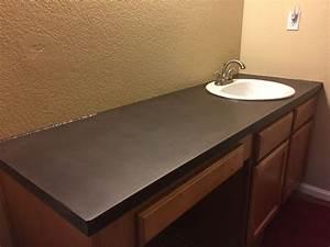 Dudley Concrete Design Customs Dark Brown Concrete Countertop With A White