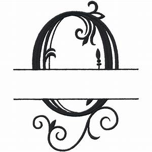 split letter monograms With letter o monogram