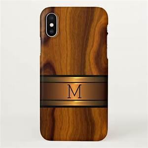 Custom Modern Cool Trendy Wood Grain Pattern iPhone X Case ...