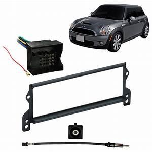 Mini Cooper 07-08 Single Din Stereo Harness Radio Dash Kit - Convertible Only