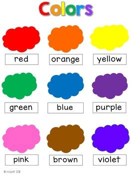 color themed word cards  word walls  english