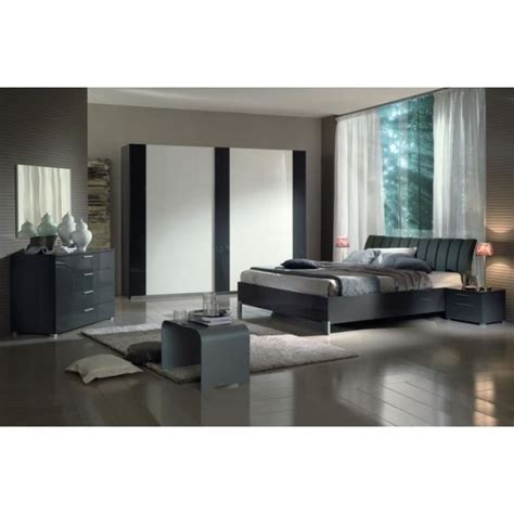 cdiscount chambre a coucher chambre à coucher moderne grise 160x200 39 39 achat