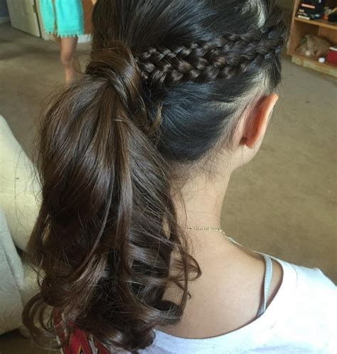 french braid ponytail haircut ideas designs hairstyles design trends premium psd