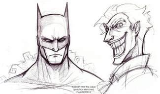 Batman Joker Face Drawings