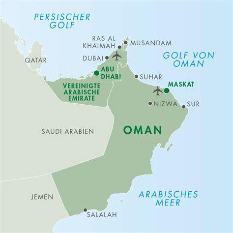 Arabische Emirate Karte