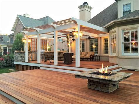 peninsula custom teak deck pergolas outdoor