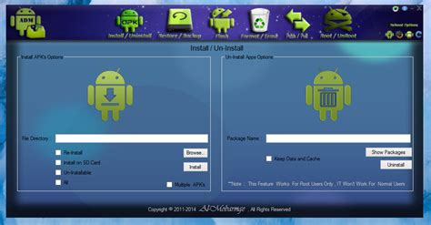 android tools apk android device manager install uninstall apk root unroot