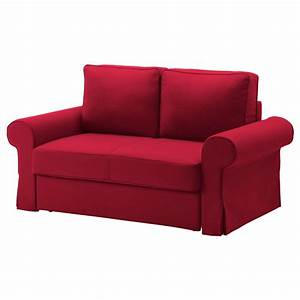 Backabro two seat sofa bed cover nordvalla red ikea for Ikea sofa bed covers