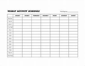 35 sample weekly schedule templates sample templates With activity timetable template