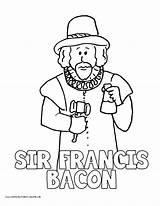 Bacon Coloring Pages Drake Francis Sir History Homeschool Printable Volume Printables Getcolorings Printa Print sketch template