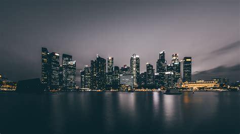 gambar air horison kaki langit malam bangunan