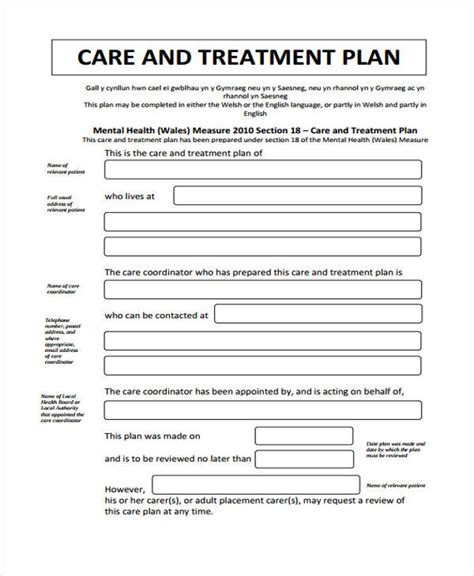 Treatment Plan Template 29 Free Treatment Plan Templates Free Premium Templates