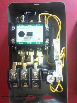wire contactor  overload relay contactor wiring diagram woodworking