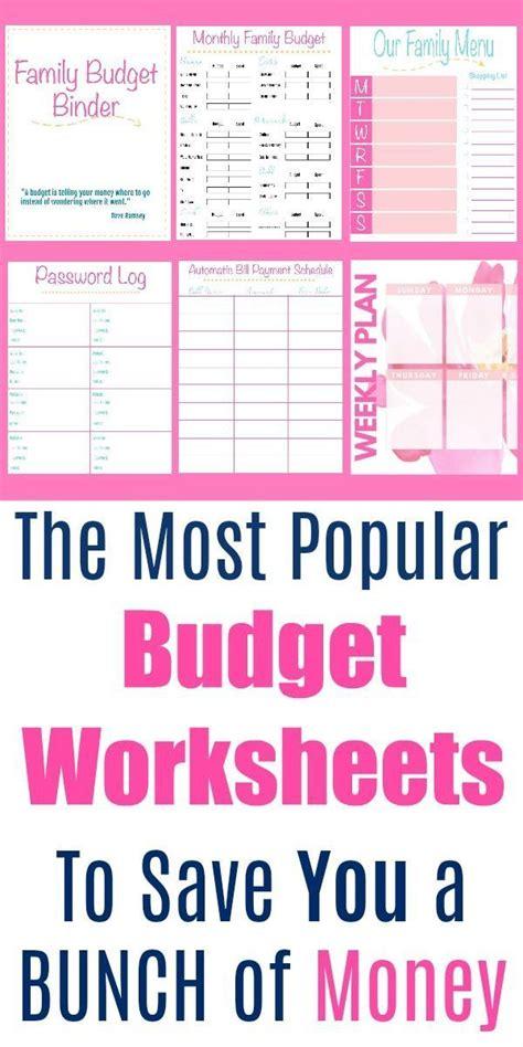 popular  budget printables budget