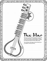 Sitar Sketch Instruments Musical Music Drawing Coloring Around Chinese Fun Worksheet Toes Tapping Tag Printables Drawings Tinytappingtoes sketch template