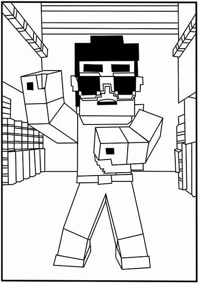Minecraft Coloring Wolf Pages Printable Skins Printables
