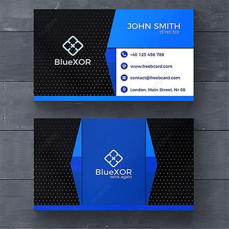blue technology business card template