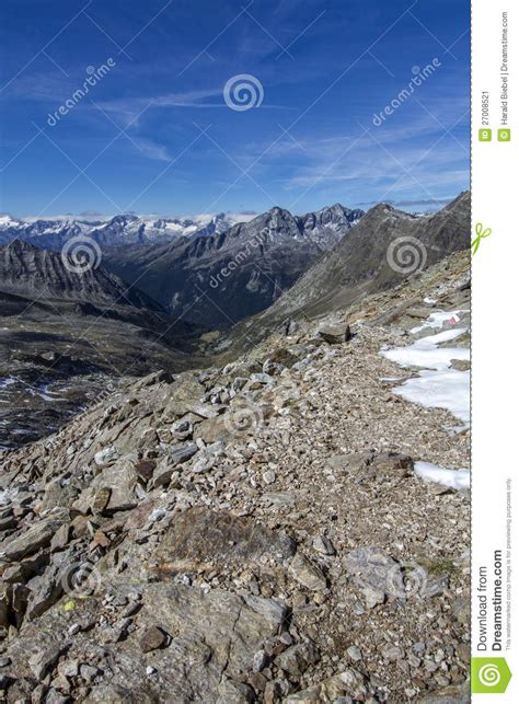 Autumn Hiking In South Tyrol Italy Europe Stock Image