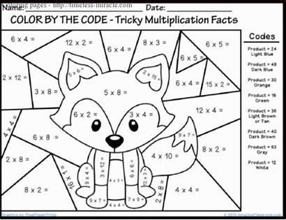 Multiplication Coloring Printable Pages Worksheets Math Miracle