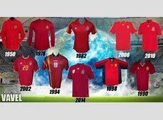 Historia de la camiseta de la selección española en la