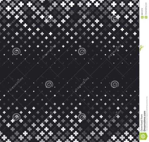 Vector Halftone Abstract Background Black White Gradient