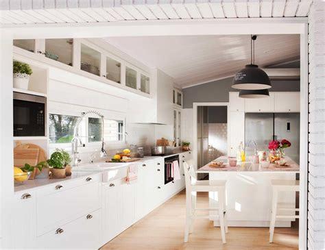 de cocinas blancas pequenas modernas  planos cocina en