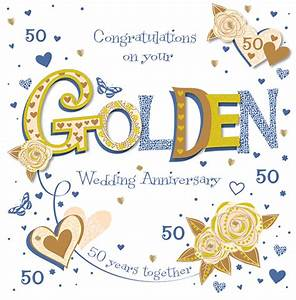handmade golden 50th wedding anniversary greeting card With 50th wedding anniversary cards