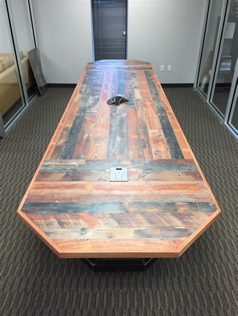 end tables with built in outlets rustic conference table klevr furniture