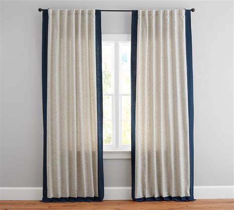 stamford teal printed cotton   curtain panel