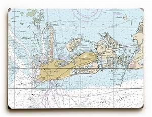 Fl Key West Fl Nautical Chart Sign Florida Keys Map Wall