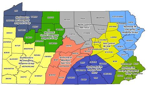 pennsylvania map county lines