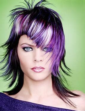 multi color hair styles cool vibrant highlights ideas