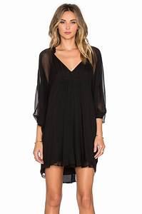 lyst diane von furstenberg fleurette dress in black With robe portefeuille diane von furstenberg