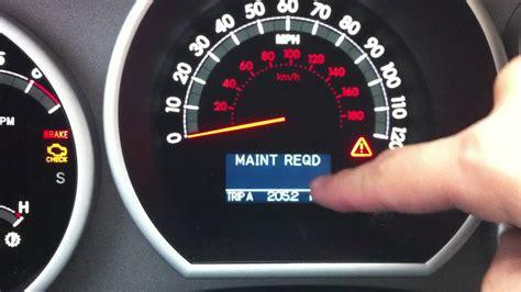 how to reset maintenance light on 2007 toyota camry toyota sienna oil light autos post
